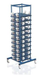 Opslagcontainer meubel rollers