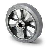 Los wiel zwaarlast 125 mm elastisch rubber grijs