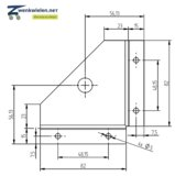 Inbouw meubelwiel 36 mm dubbelrol soft wiel hoek-inzetstuk