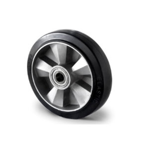 Los wiel zwaarlast 125 mm elastisch rubber zwart