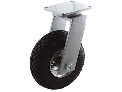 Zwaar zwenkwiel met luchtband 260 mm