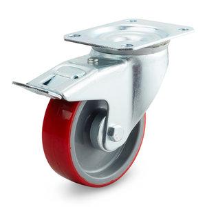 rvs wiel met rem