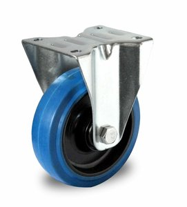 Bokwiel 100 mm blauw plaat kogellager