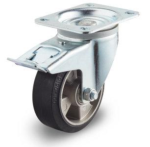 200 mm wiel met rem streeploos