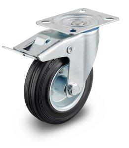 Zwenkwiel 160 mm met rem