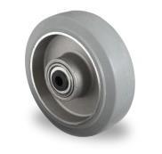 Los wiel 100 mm elastisch rubber grijs