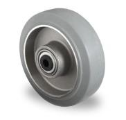 Los wiel 125 mm elastisch rubber grijs