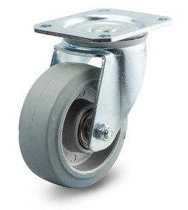 Zwenkwiel 100 mm elastisch rubber