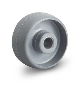 wiel van polyamide grijs 30 mm