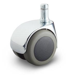 bureaustoel wiel stift 11 mm chroom