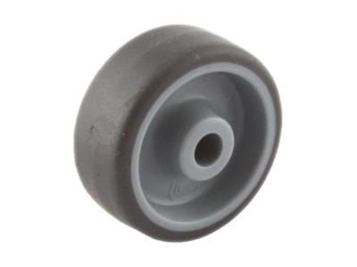 Wiel met grijze TPR band en kunststof velg smal 50 mm