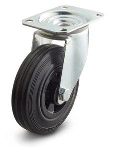 zwenkwielen rubber