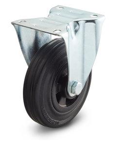 Bokwiel 125 mm rubberBokwiel 125 mm rubber