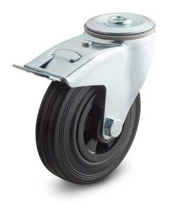 zwenkwiel met rem hals wiel