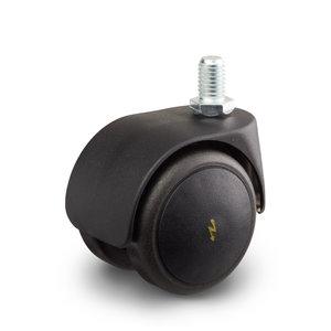 Elektrisch geleidend wiel zelfremmend onbelast geremd 50 mm soft kap bout M10