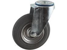 zwenkwiel met luchtband 200 mm boutgatbevestiging