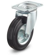 zwenkwiel rubber 80 mm
